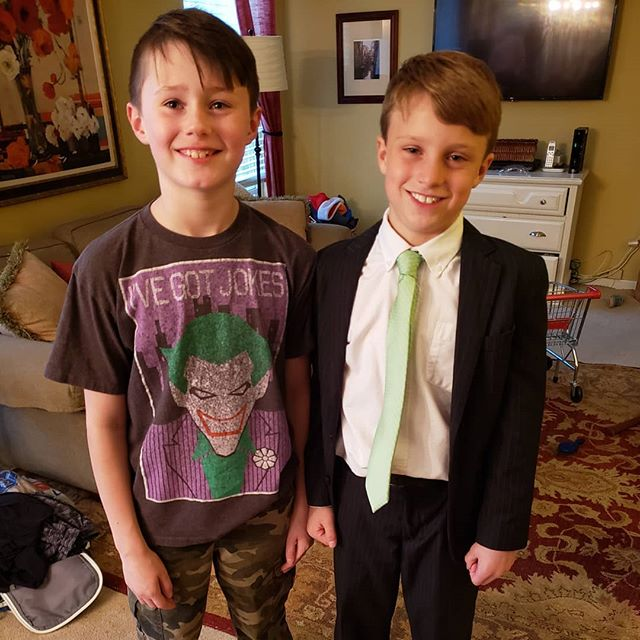 Congratulations on receiving 1st Communion to Max's buddy Patrick. Max is preparing for his this Sunday!