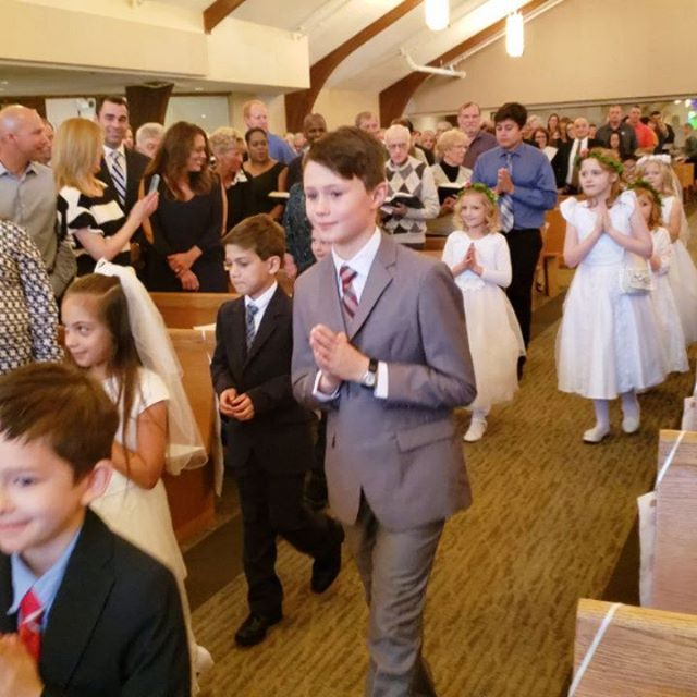 Very proud of this young man. Congratulations Maxwell on your First Communion!