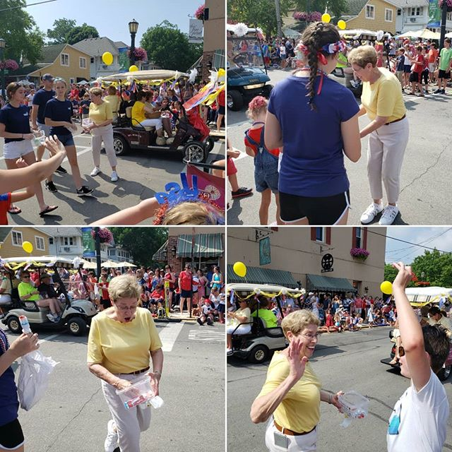 Grandma was is the parade!