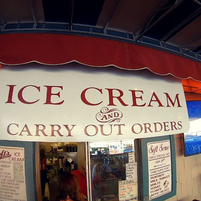 Walking to get ice cream...