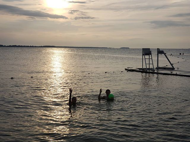 Cousins lake swimming this evening...