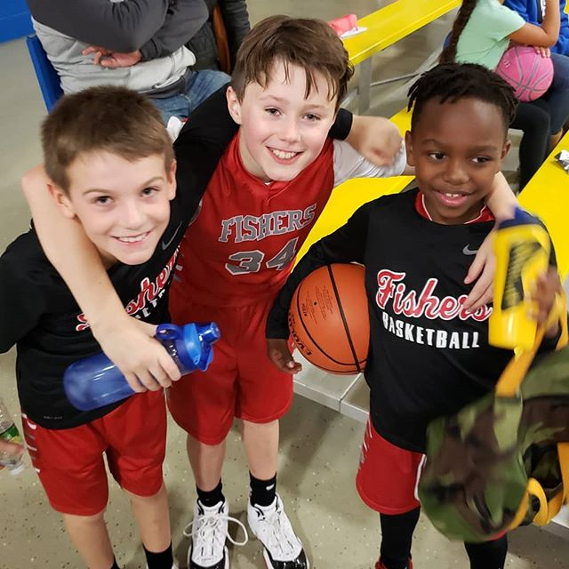 Big win today for Fishers 3rd grade BBall team. A 39-33 OT victory over Carmel's top 3rd grade team. Nice Job Boys! (Max scored all 6 OT points)