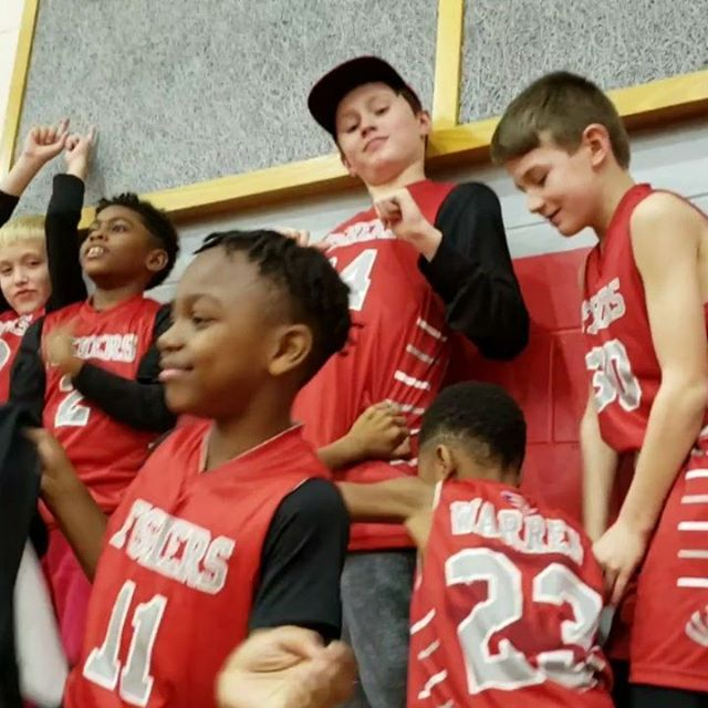 3rd Grade Fishers Basketball Team had a lot of fun at the Varsity game tonight. They even outcheered the cheerleaders.
