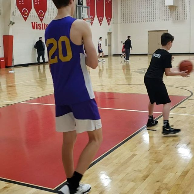Max working in with the Geurin High School Basketball Team tonight...