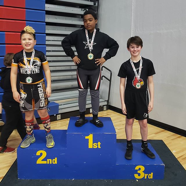 3rd Place Finish @ City CYO Tournament. 3rd/4th Grade 105lb Division. Not too shabby for having gone to only one practice last few months... #basketballplayerwrestling